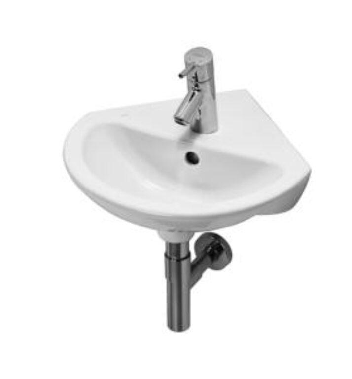 MIO umývátko rohové 45x47cm bílé 1571.3(ch104)I.j. - Sanitární keramika  / Umývátka / Katalog koupelen