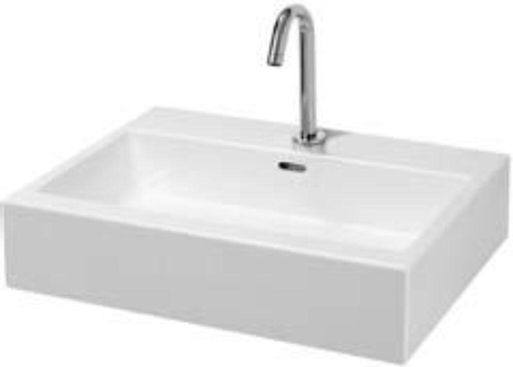 LIVING city umyv.do nábytku 60x46cm 1743.3(ch104) I.j. - Doprodej koupelnového vybavení / Sanitární keramika v doprodeji / Umyvadla do koupelny v akci