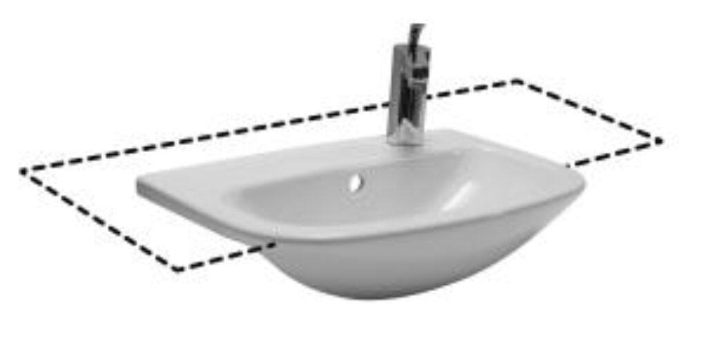 MIO umyv.polozápustné 55x35,5cm bílé 1771.1(ch105) I.j. - Doprodej koupelnového vybavení / Sanitární keramika v doprodeji / Umyvadla do koupelny v akci