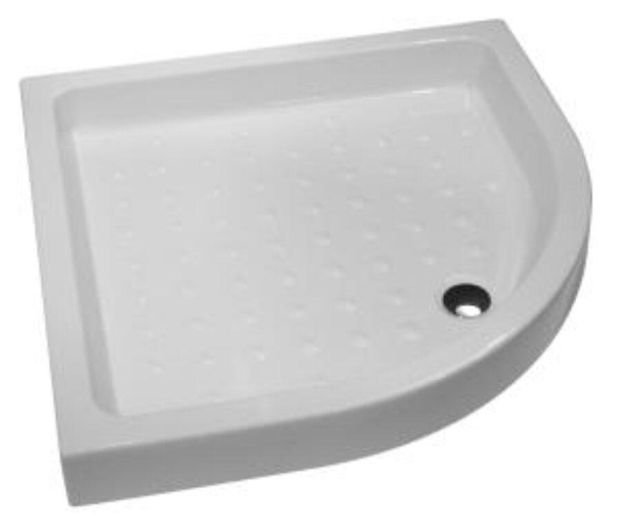 JIKA vanička RAVENNA 80/80/11cm keramická bílá 5208.6(ch000) I.j. - Sprchové kouty pro koupelny / Sprchové vaničky do koupelny / Čtvrtkruhové vaničky / Katalog koupelen