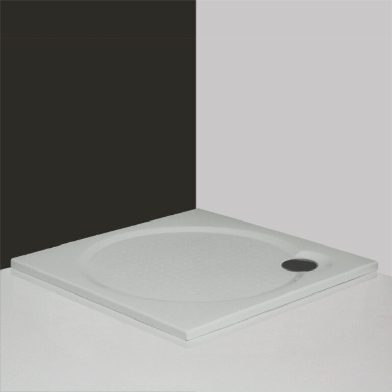 ROL-MACAO-M vanička čtverec 90/90/3 litý mramor bílá (8000063) - Sprchové kouty / Sprchové vaničky / Čtvercové vaničky