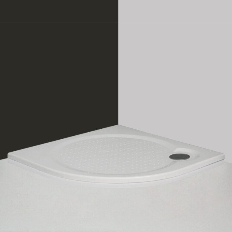 ROL-TAHITI-M vanička čtvrtkruh 90/90 R550 litý mramor bílá (8000065) - Sprchové kouty / Sprchové vaničky / Čtvrtkruhové vaničky