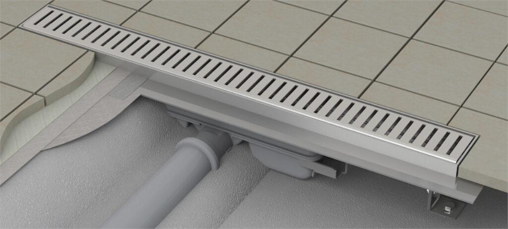 Žlab LOW podlahový s okrajem pro perforovaný rošt APZ101-750 - Žlaby / Katalog koupelen