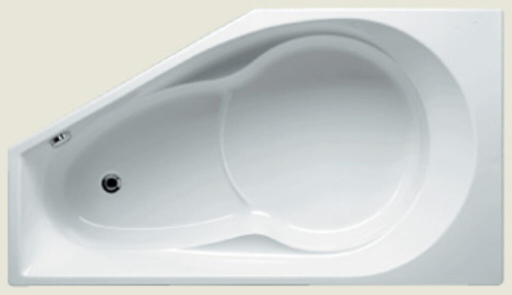 RIHO yukon pravý 160x90cm bílý005 I.j. - Vany  / Asymetrické vany do koupelen / Katalog koupelen