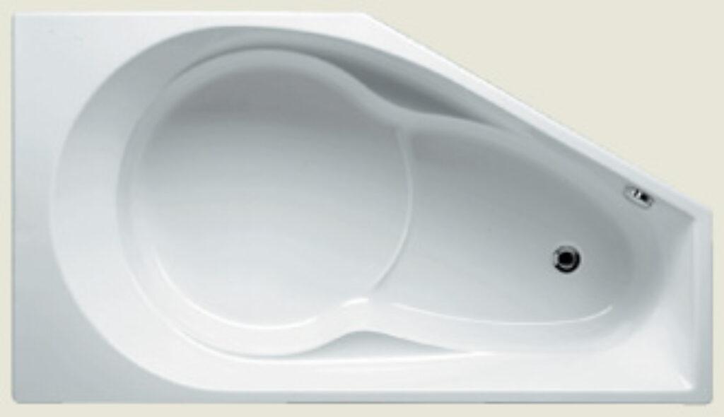 RIHO yukon levý 160x90cm bílý005 I.j. - Vany / Asymetrické vany do koupelen