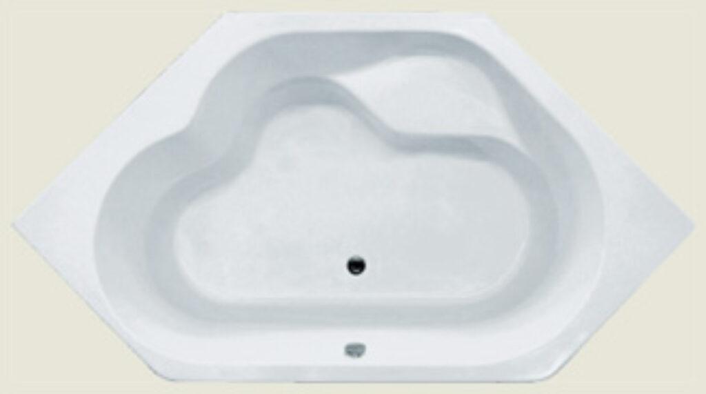 RIHO winnipeg 145x145cm bílá005 I.j. - Vany / Asymetrické vany do koupelen