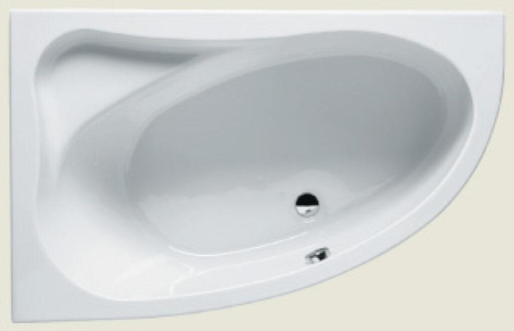 RIHO lyra pravá 140x90cm bílá005 I.j. - Vany  / Rohové vany do koupelen / Katalog koupelen