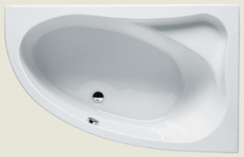 RIHO lyra levá 153x100cm bílá005 I.j. - Vany  / Rohové vany do koupelen / Katalog koupelen