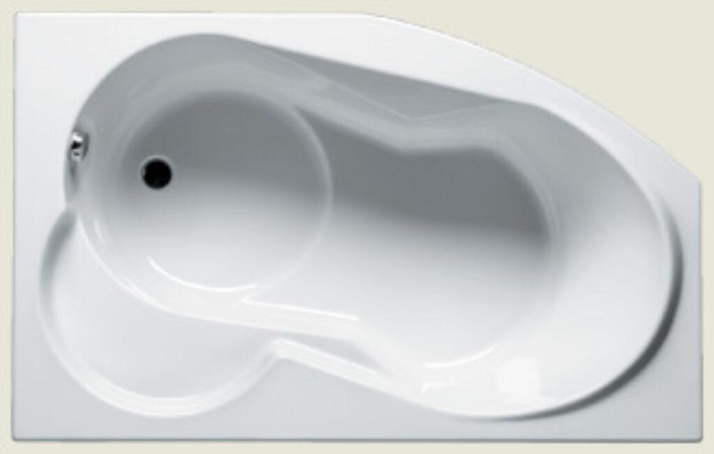 RIHO nora levá 160x100cm bílá005 I.j. - Vany  / Asymetrické vany do koupelen / Katalog koupelen