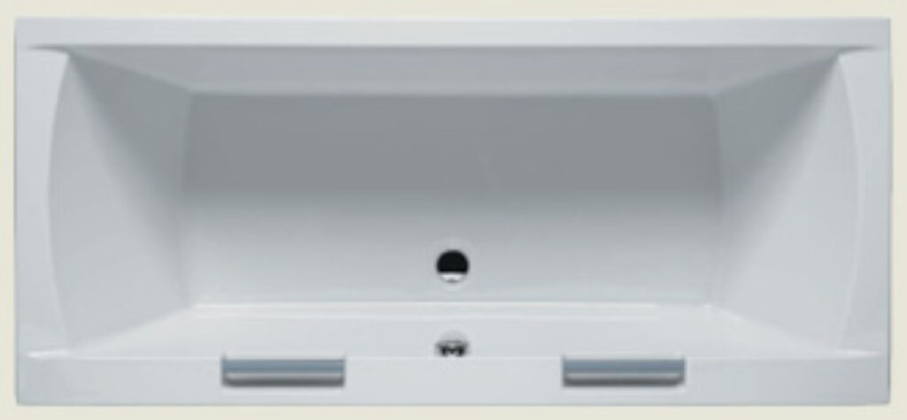 RIHO modena + napouštěcí madla 180x80cm bílá005 I.j. - Vany / Obdelníkové vany do koupelen