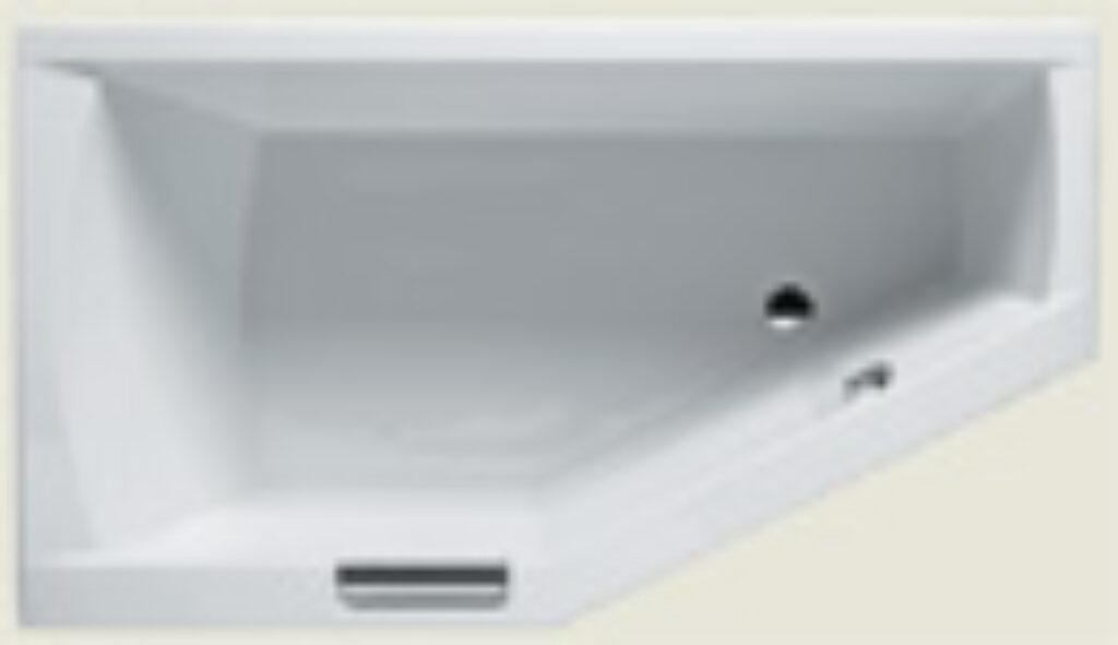 RIHO geta 160x90cm  napouštění madlem pravá bílá I.j. - Vany  / Asymetrické vany do koupelen / Katalog koupelen