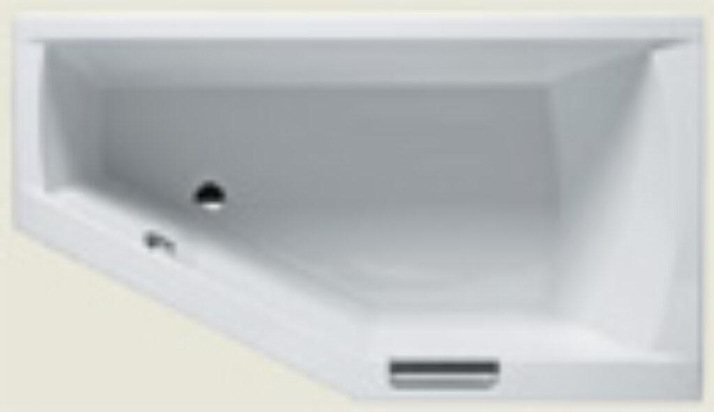 RIHO geta 160x90cm levá bílá I.j. BA87 - Vany  / Asymetrické vany do koupelen / Katalog koupelen