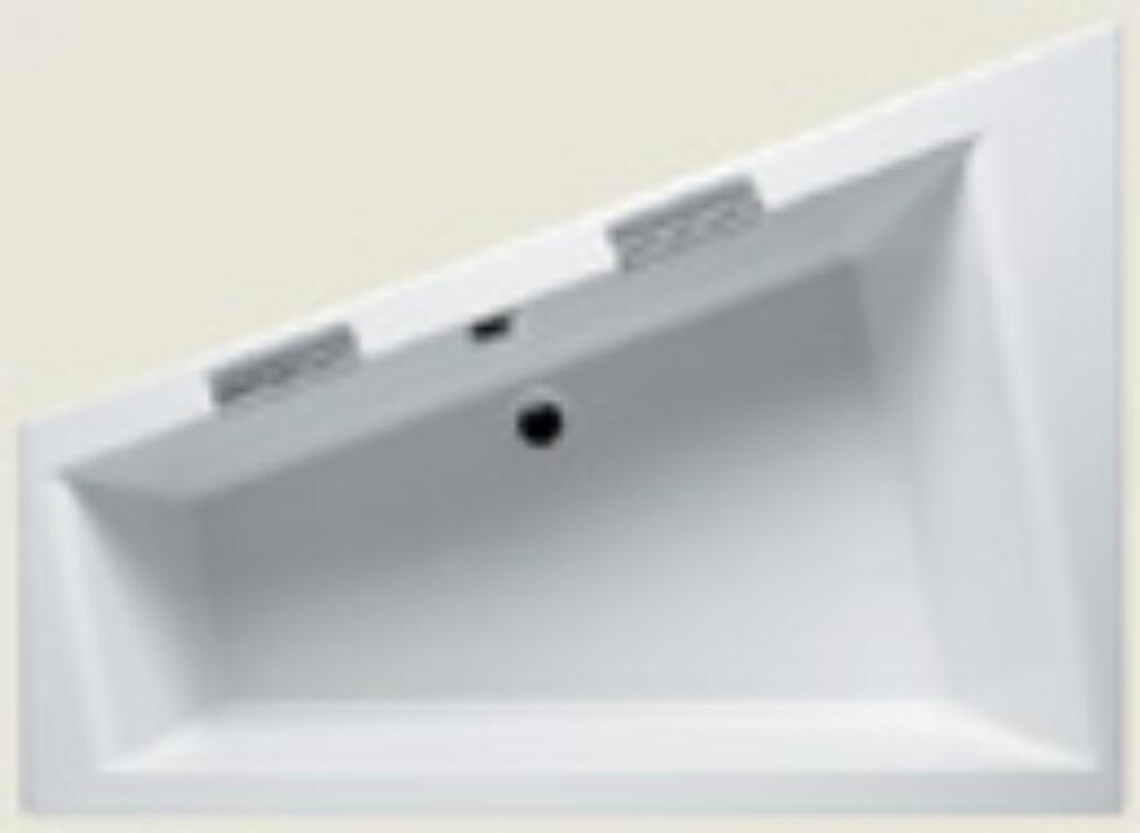 RIHO doppio 180x130cm pravá BA90 bílá005 I.j. - Vany  / Asymetrické vany do koupelen / Katalog koupelen