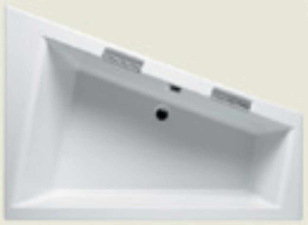 RIHO doppio 180x130cm levá BA91 bílá005 I.j. - Vany  / Asymetrické vany do koupelen / Katalog koupelen