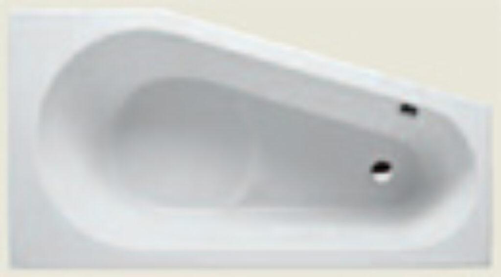 RIHO delta 160x80cm levá bílá005 I.j. - Vany  / Asymetrické vany do koupelen / Katalog koupelen