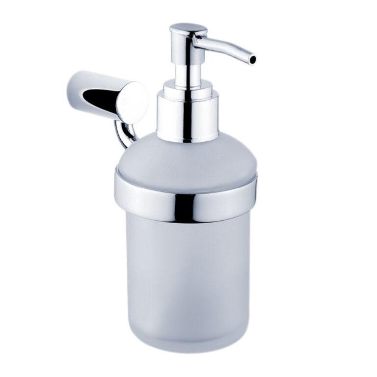 NIMCO-Bormo dávkovač na tekuté mýdlo 180ml rosené matné sklo/plast BR11031C-26 - Koupelnové doplňky / Doplňky do koupelny