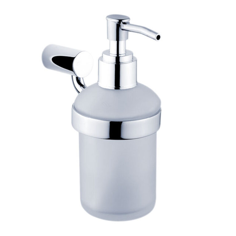 NIMCO-Bormo dávkovač na tekuté mýdlo 180ml rosené matné sklo/plast BR11031C-26 - Koupelnové doplňky / Doplňky do koupelny / Katalog koupelen
