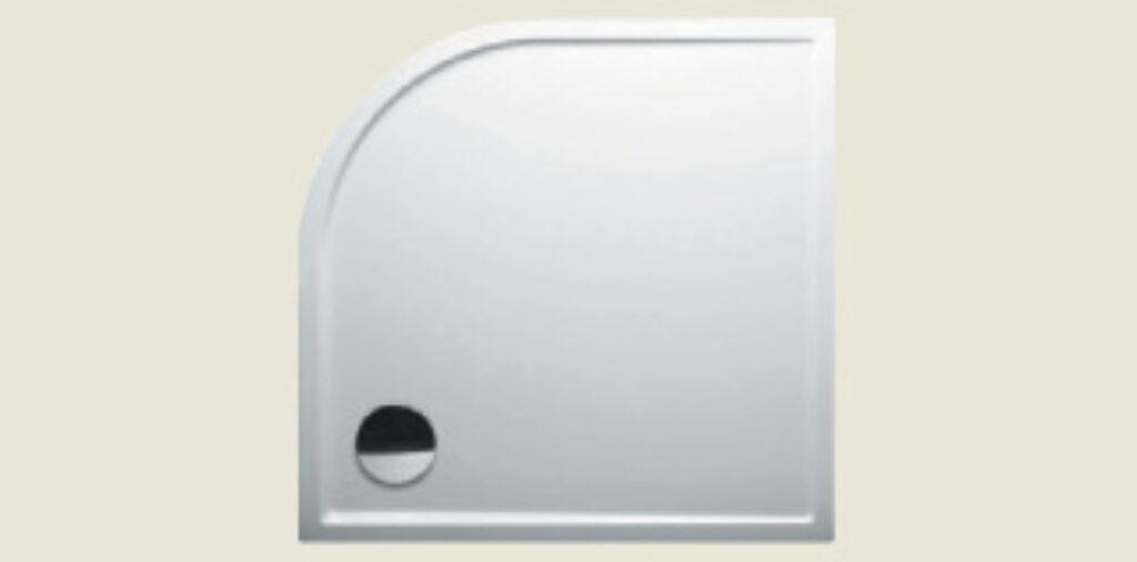 RIHO vanička DA86 SV278 čtvrtkruh 80/80/4 R550 bílá I.j. - Sprchové kouty pro koupelny / Sprchové vaničky do koupelny