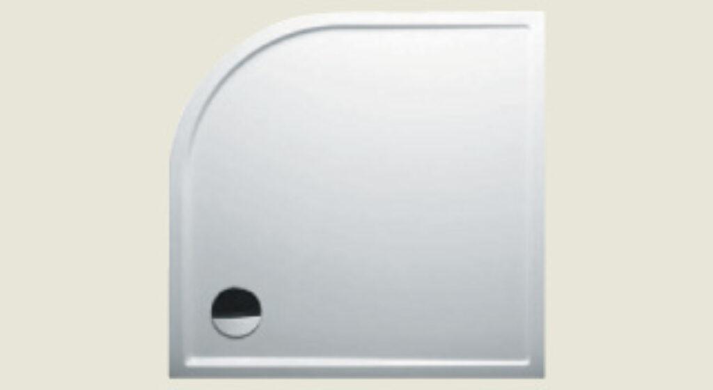 RIHO vanička DA88 SV280 čtvrtkruh 90/90/4,5 R550 bílá I.j. - Sprchové kouty pro koupelny / Sprchové vaničky do koupelny