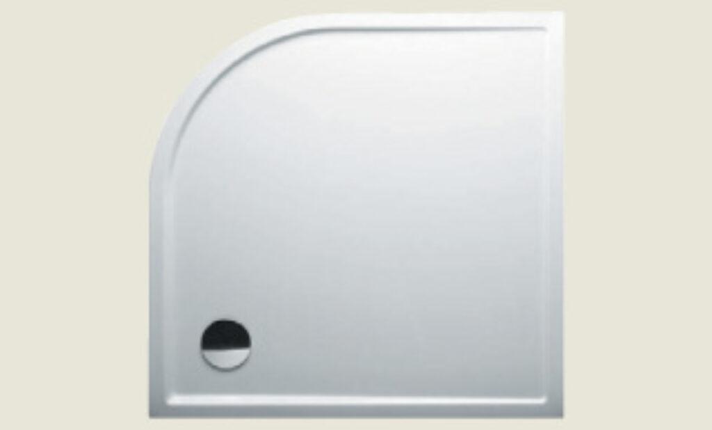 RIHO vanička DA93 SV285 čtvrtkruh 100/100/4,5 bílá vč.noh+panel I.j. - Sprchové kouty pro koupelny / Sprchové vaničky do koupelny