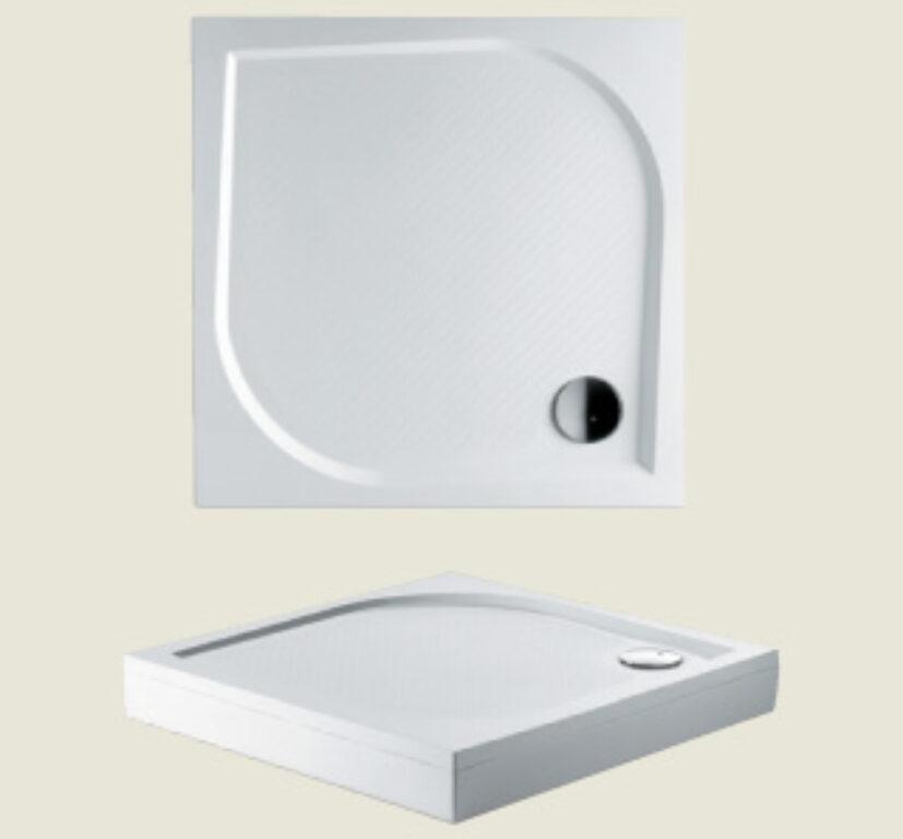RIHO vanička DB20 Kolping 80/80/3 litý mramor bílá I.j. - Sprchové kouty pro koupelny / Sprchové vaničky do koupelny / Čtvercové vaničky