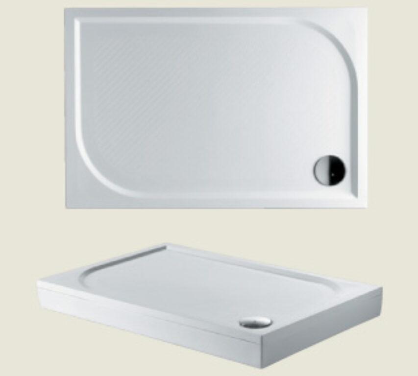 RIHO vanička DB33 Kolping 120/80/3 litý mramor bílá I.j. - Sprchové kouty pro koupelny / Sprchové vaničky do koupelny / Obdelníkové vaničky