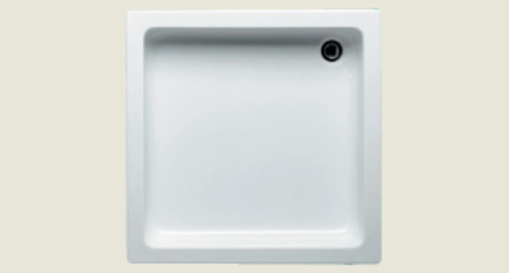 RIHO vanička DC01 Apollo čtverec 80/80/13 bílá I.j. - Sprchové kouty pro koupelny / Sprchové vaničky do koupelny / Čtvercové vaničky