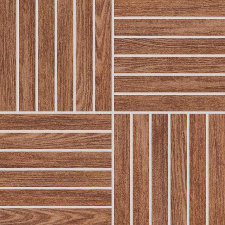 Mozaika k dlažbě Wood hnědá 29,2/29,2 DDV1V620 - Doprodej obkladů a dlažeb / Obklady a dlažby RAKO v doprodeji