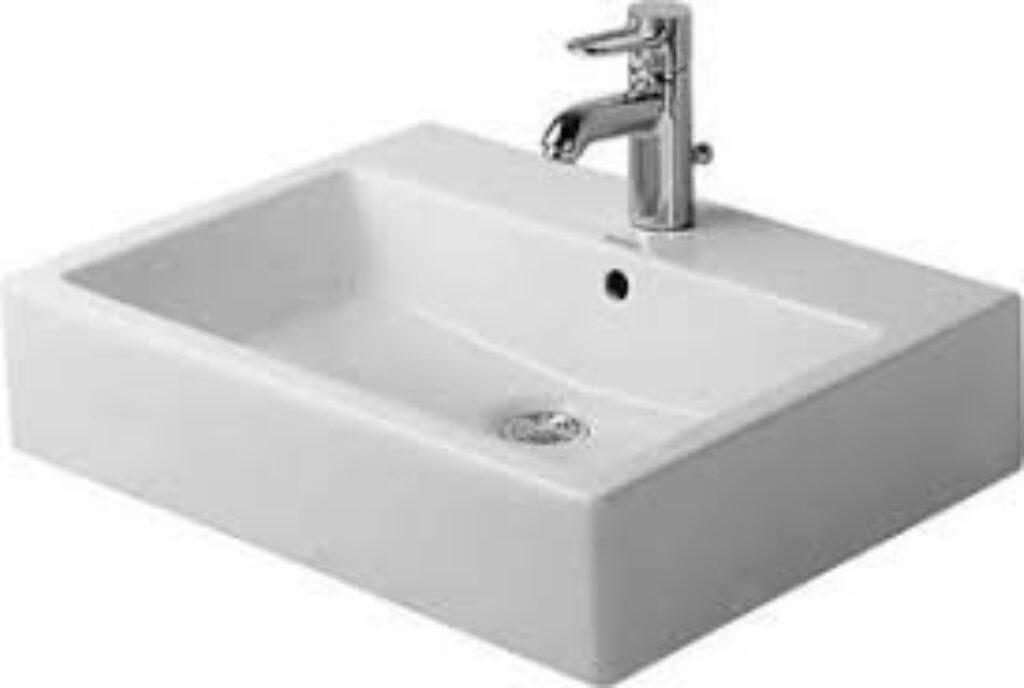 Duravit Vero umyvadlo 50x47cm s otvorem pro baterii alpská bílá DUR0452500000 - Doprodej koupelnového vybavení / Sanitární keramika v doprodeji / Umyvadla do koupelny v akci