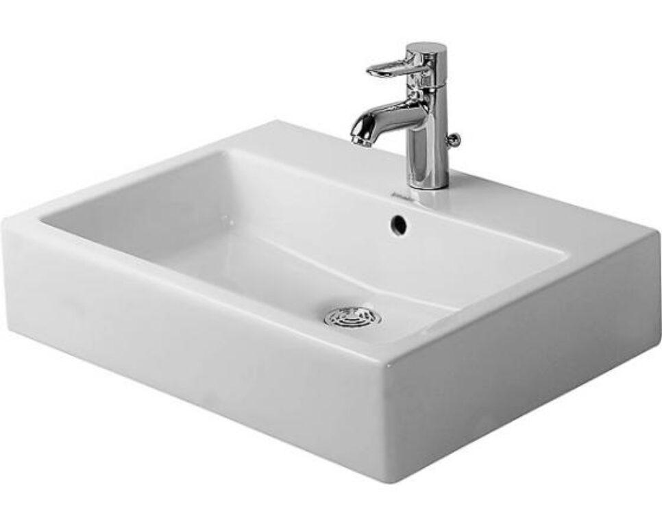 Duravit Vero umyvadlo 60x47cm s otvorem pro baterii alpská bílá DUR0452600000 - Doprodej koupelnového vybavení / Sanitární keramika v doprodeji / Umyvadla do koupelny v akci