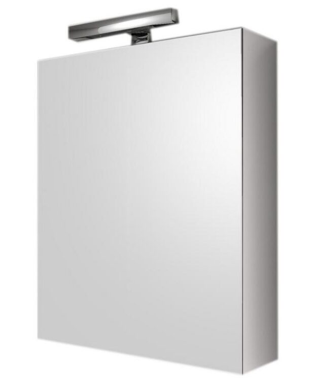 Zrcadlová skříňka s osvětlením KARO CH ED21/LL1L1 45x60x16,5 levá - Koupelnový nábytek / Zrcadlové skříňky / Katalog koupelen