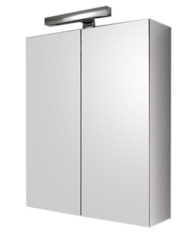 Zrcadlová skříňka s osvětlením KARO CH ED22L1L1 45x60x16,5 dvoukřídlá - Koupelnový nábytek / Zrcadlové skříňky / Katalog koupelen