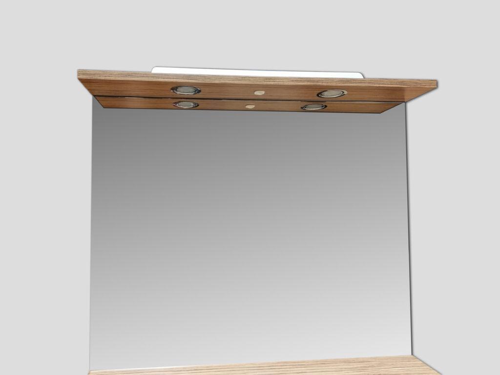LB ELEMENTS B ATYP zebrano pískové ELBZ80 Y-492-MY-zrcadlo - Koupelnový nábytek / Zrcadlové skříňky
