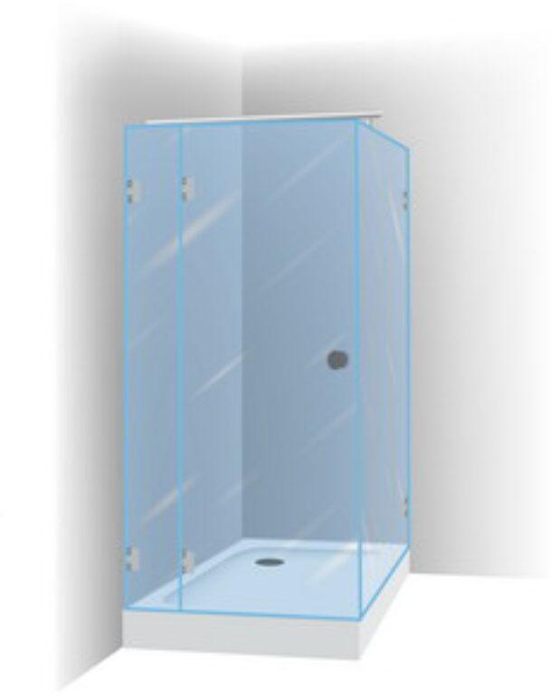 RIHO SCANDIC S203 100/100 sprchová zástěna  GC29200 - Sprchové kouty pro koupelny / Čtvercové sprchové kouty pro koupelny / Katalog koupelen