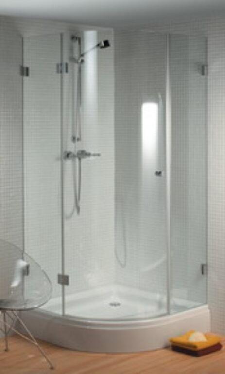 RIHO SCANDIC S308 90/90cm sprch.zástěna pravá GC44200 - Sprchové kouty pro koupelny / Čtvrtkruhové sprchové kouty do koupelny / Katalog koupelen