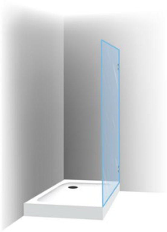 RIHO SCANDIC S400 100cm sprchová zástěna GC52200 - Sprchové kouty pro koupelny / Ostatní produkty pro sprchové kouty / Katalog koupelen