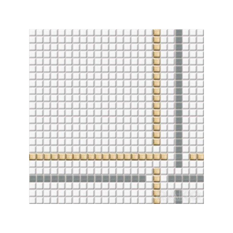 Mozaika Tetris 30/30 bílá 1,1x1,1 cm GDM01002 - Doprodej obkladů a dlažeb / Obklady a dlažby RAKO v doprodeji