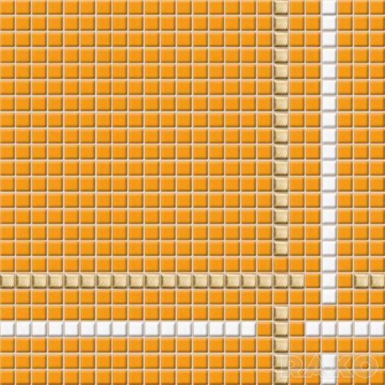 Mozaika Tetris 30/30 oranžová s proužky 1,1x1,1 cm GDM01032 - Doprodej obkladů a dlažeb / Mozaiky