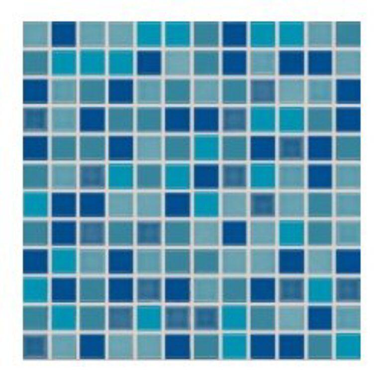 Mozaika Allegro 30/30 mix modrá 2,3x2,3 cm GDM02045 (2CX045) - Doprodej obkladů a dlažeb / Mozaiky