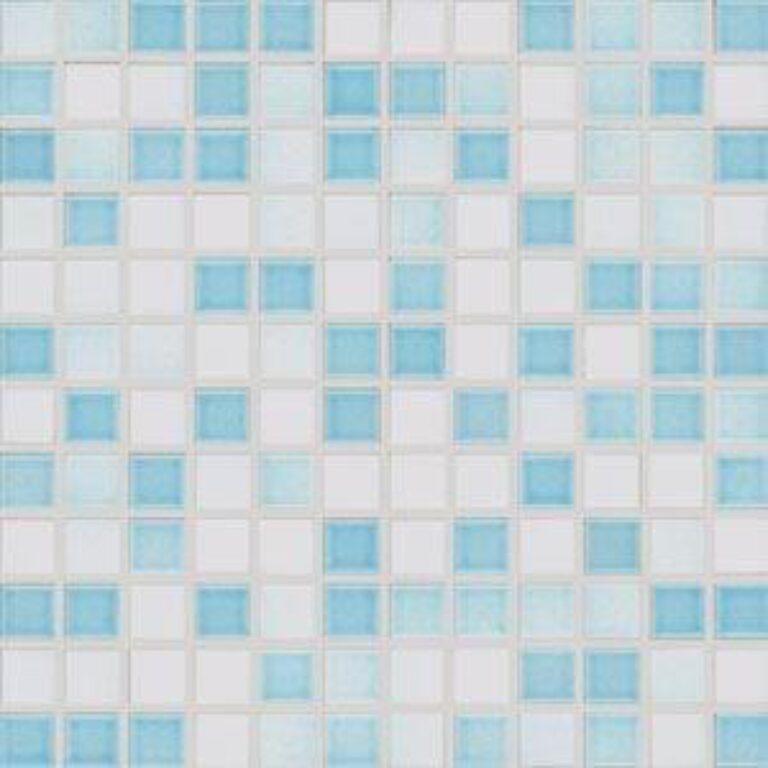 Mozaika City 30/30 lesklá modrobílá GDM02061 - Doprodej obkladů a dlažeb / Mozaiky