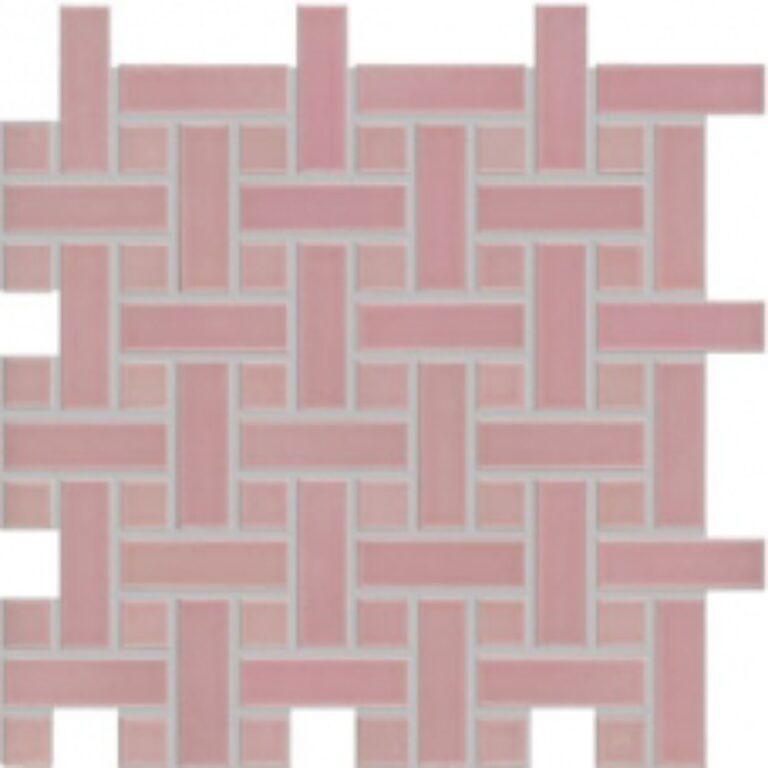 Mozaika Dolcevita 30/30 růžová pletenec GDMAK001 (2,3x2,3/2,3x7,3) - Doprodej obkladů a dlažeb / Obklady a dlažby RAKO v doprodeji
