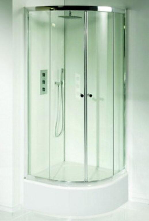RIHO LUCENA sprchová zástěna čtvrtkruh 90/90/150 GK12200 - Sprchové kouty pro koupelny / Čtvrtkruhové sprchové kouty do koupelny / Katalog koupelen