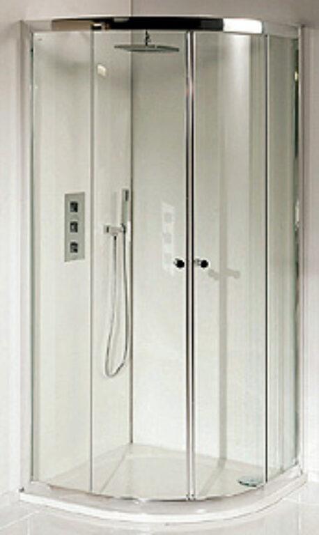 RIHO LUCENA sprchová zástěna čtvrtkruh 90/90/195 GK24200 - Sprchové kouty pro koupelny / Čtvrtkruhové sprchové kouty do koupelny