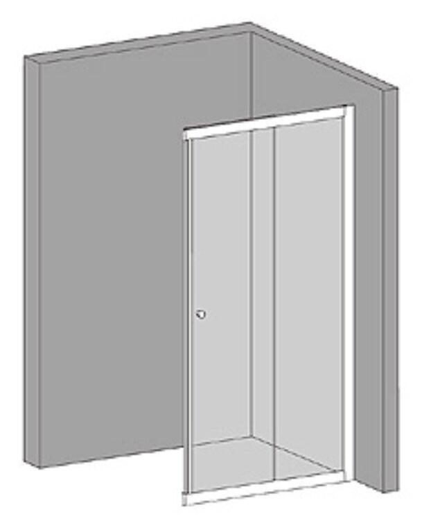 RIHO LUCENA sprchová zástěna díl s dveřmi120x195 GKB38200 - Sprchové kouty pro koupelny / Ostatní produkty pro sprchové kouty