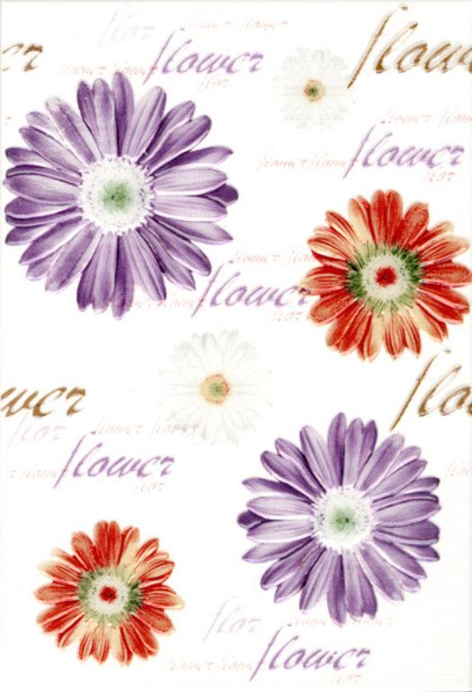 Dekor k obkladu Fantastic B15 rojo (květiny) 25/36,5 - Doprodej obkladů a dlažeb / Keramické obklady a dlažby