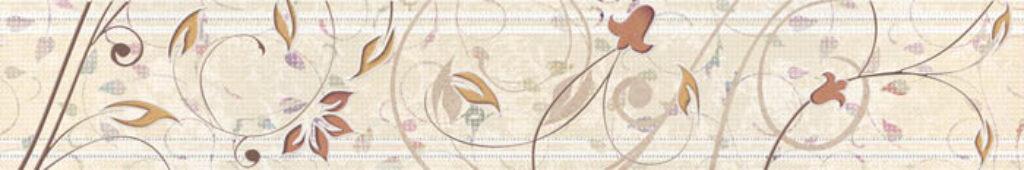 Listelo k obkladu Organza B20 beige 7,5/60 I.j. - Doprodej obkladů a dlažeb / Keramické obklady a dlažby