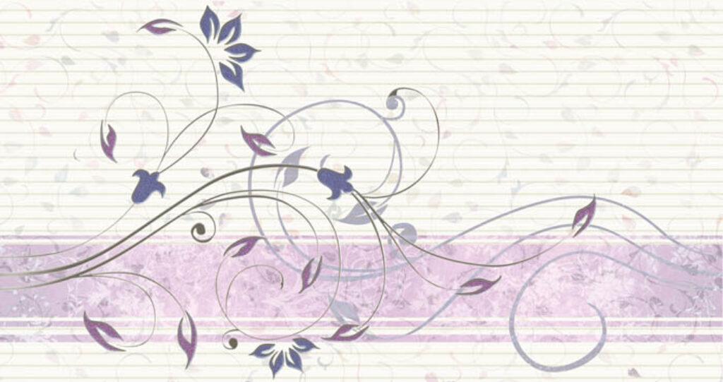 Dekor k obkladu Organza lila B20 31,6/60 - Doprodej obkladů a dlažeb / Keramické obklady a dlažby