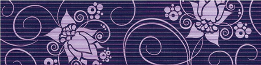 Listelo k obkladu Organza B26 lila 15/60 I.j. - Doprodej obkladů a dlažeb / Keramické obklady a dlažby