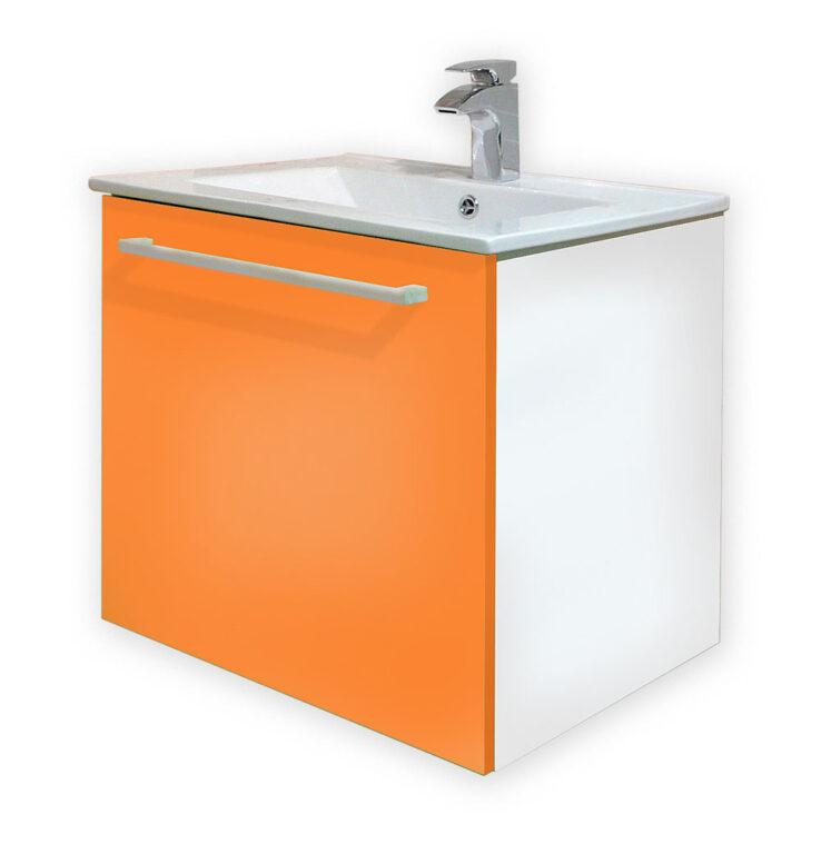 LB FANTASTIC PISTACHO skříňka závěsná vč.umyvadla MB2.2P P zelená pravá - Doprodej koupelnového vybavení / Koupelnový nábytek