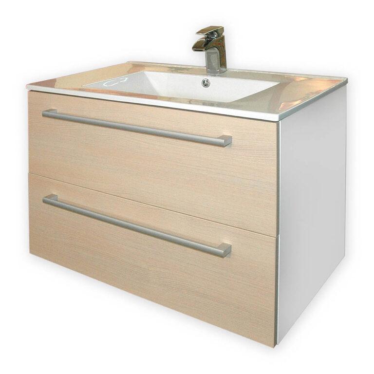 ALAMO MARFIL  skříňka  s umyvadlem 75cm,  dub pískový - Doprodej koupelnového vybavení / Koupelnový nábytek